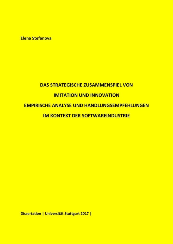 Elenea Stefanova Dissertation