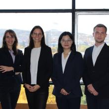 Teambild von links nach rechts: Cristina-Andreea Gusta, Prof. Dr. Christina Kühnl, Lei Zhou und Marco Weippert